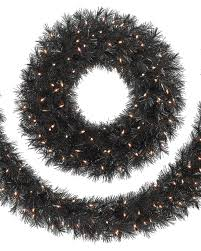 holiday time pre lit 18 christmas garland multi lights tuxedo black christmas wreaths garland for sale treetopia