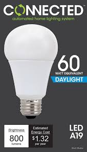 daylight led light bulbs tcp led connected a19 60w equivalent daylight 5000k wifi