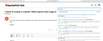 i want to create a custom table layout and logo in ticket