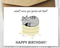 Cat Birthday Cards Birthday Card Downloads Funny Cat Birthday Cards Printable