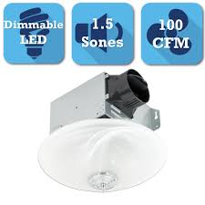 nutone decorative white 100 cfm ceiling exhaust bath fan with