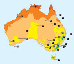 map of aus hardiness zones in australia