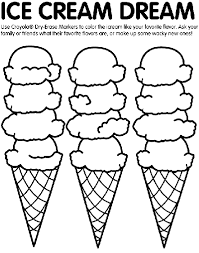 ice cream coloring crayola