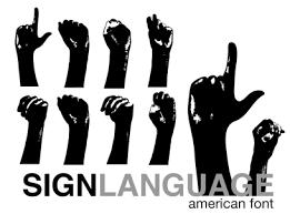 sign language fonts