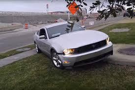 Black Mustang Crash Friday Fail Let U0027s Have Another Mustang Crash Shall We