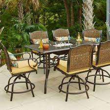 Pub Height Patio Table Hton Bay Bar Height Dining Sets Outdoor Bar Furniture The