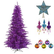 how to decorate a purple christmas tree northpoledecor com blog