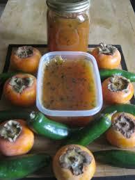 persimmon and jalapeno pepper jam preserve recipe pepper food