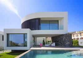 mediterranean finestrat villa with the sea in the horizon designed