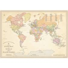 Framed World Map by St U0026g U0027s Magnificently Rude Map Of World Place Names U2014 St U0026g U0027s