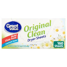 great sheets great value ultimate fresh dryer sheets original clean 160 count