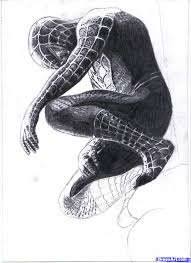 how to draw black spiderman drawing pinterest black