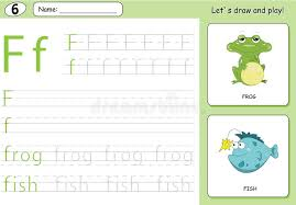 cartoon frog and fish alphabet tracing worksheet writing a z