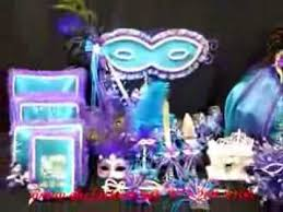 quinceanera centerpiece quinceanera centerpiece mask or masquerade theme in purple and