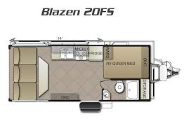 Toy Hauler Floor Plans Blaze U0027n Toy Hauler Trailers 5th Wheels For Sale