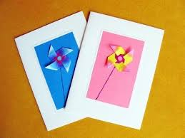 How To Make Origami Greeting Cards - greeting cards using an easy origami windmill