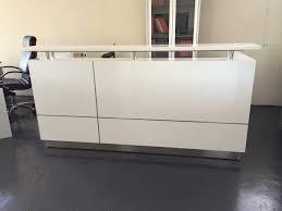 Standing Reception Desk 1800w Ariel Reception Desk White Kenn Office Furniture For White