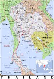 Map Of Thailand Th Thailand Public Domain Maps By Pat The Free Open Source