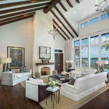 high ceilings living room contemporary with clerestory windows