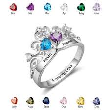 s day birthstone rings personalized empress rings name birthstones ring s day
