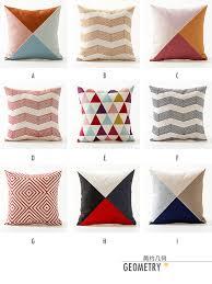 scandinavian color scandinavian modern minimalist hit color geometric linen pillow
