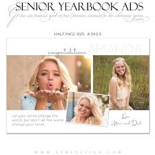 ashe design senior yearbook ad photoshop templates your