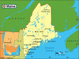 maine map with cities maine map and maine satellite images