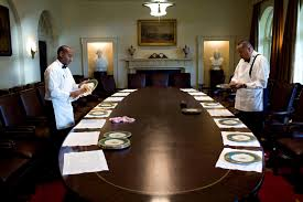 Set The Table by File White House Butlers Ron Guy Left And Von Everett Set The