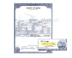 county of marin certificate of birth ready for apostille state