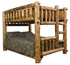 Free Plans Build Twin Over Full Bunk Beds by Rustic Log Bunk Bed Fullqueen Ladder Left Reclaimed Furniture
