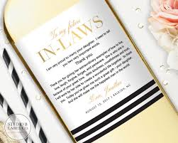 parents gift wedding in wedding gift wine labels gift for inlaws wedding