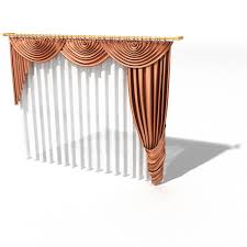 Sheer Swag Curtains Valances Scarf Swag Valance And Sheer Curtain 3d Model 3dsmax 3ds Files