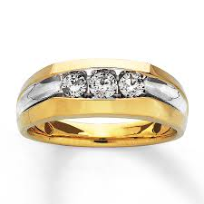 mens gold diamond rings jared men s diamond ring 1 2 ct tw cut 14k yellow gold
