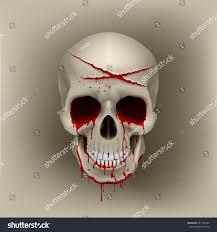 halloween skull transparent background halloween cut blood skull slashes bleeding stock vector 641765233