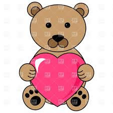 teddy bear clipart heart clip art pencil and in color teddy bear