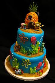 spongebob birthday cakes spong bob s the sea paradise from cinotti s bakery