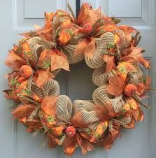 fall pumpkin wreath fall wreath harvest wreath autumn wreath