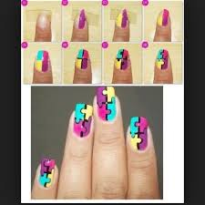 diy puzzle nails pictures photos and images for facebook