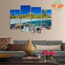 ocean decorations for home aliexpress com buy 4 piece set canvas art beautiful reef