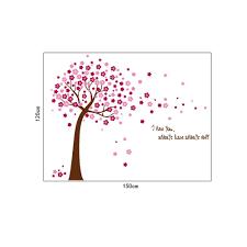 pink cherry blossom flowers tree uk wall sticker