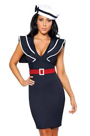 Ship Captain Halloween Costume Pinup Girls Costumes 3 Pc 1940 U0027s Style Sailor Costume