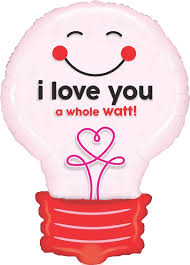 balloons shaped like light bulbs 29 i love you a whole watt light bulb valentine s day pun balloon