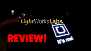 lyft light up beacon glowing led uber lyft logo sign stand out from the crowd youtube