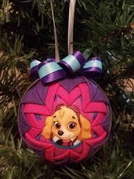 these paw patrol ornaments unique