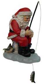 fishing santa ornament ornaments