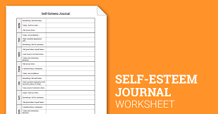 self esteem journal worksheet therapist aid