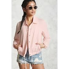 light pink blazer forever 21 forever21 drawstring coach jacket 23 liked on polyvore