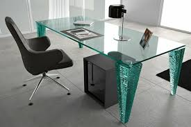 glass and chrome writing desk one decor