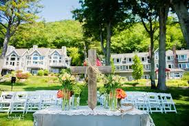 wedding arches michigan homestead resort wedding photography