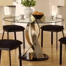 Round Formal Dining Room Tables Glass Dining Room Table Sets Provisionsdining Com